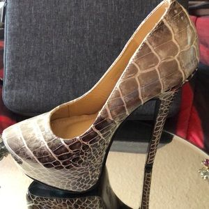 👠👠👠 SHOEDAZZLE FAUX PATENT LEATHER SNAKE 👠👠👠